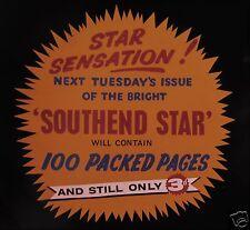 Glass Magic Lantern Slide SOUTHEND STAR NEWSPAPER CINEMA ADVERT C1950