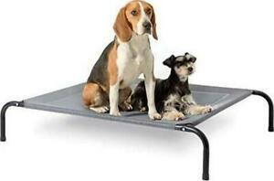 Raised Dog Bed Large - Elevated Waterproof Dog Bed With Cooling Mesh