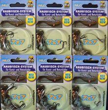 Sechs 7x7 Stinger mit 1 oder 2 Drillingen  Tragkraft über 15 Kg