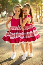 NWT Dollcake Love Heart Red & White Bow Girl Dress sz 3 7 Party Holiday Special