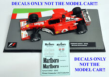 Michael Schumacher Ferrari F2002 Marlboro Decals 1 43 Formula 1 Car Collection