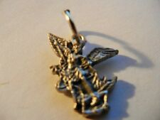 "Saint Michael the Archangel 1/2"" silhouette mini medal New! Made in Italy"