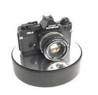 OLYMPUS OM-4 SLR 35MM FILM CAMERA BLACK + 50MM OLYMPUS SILVER TIP LENS *RARE*699