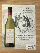 Jacob's Creek Chardonnay Adelaide Hills Wines Print Ad Advertising