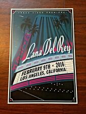 Lana Del Rey 2/9/2016 Los Angeles Ca Wilter sold out artist print