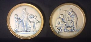 Vintage Grecian Plaques Set Of Two