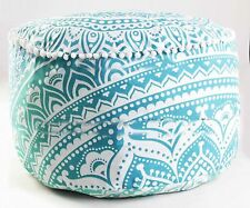Handmade Patchwork Comfortable Floor Cotton Foot Stool Ottoman Pouf Cover