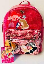 PRIMARK GIRLS DISNEY PRINCESS PINK RUCKSACK BACKPACK - Brand New With Tags
