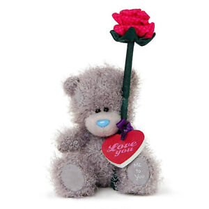"""NEW Carte Blanche Me To You Tatty Teddy Bear Red Rose & Love You Plaque 5"""" 13cm"""