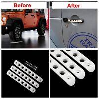 3*White Aluminum Car Door Handles Trim Bar For 2007-2017 Jeep Wrangler JK 2 Door