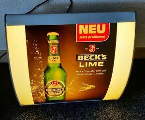 Beck's Bier Leuchtreklame Werbung Reklame illuminated sign