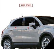 2014Up Fiat 500X Chrome Windows Frame Trim 4 Door 4Pcs S.Steel