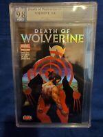 DEATH OF WOLVERINE 1 PGX 9.8 * Holofoil Cover * Marvel Comics