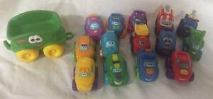 Hasbro Tonka Little People Wheelies Car and Truck Lot Multiple Years C807-104
