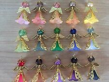 KIT 16 Gold Angels Frosted Flower Bead Filigree Cone Bead Cap Wings Beads Charms
