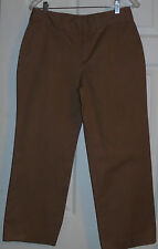 Chaps Khaki Brown Capri Slacks Pants Women Ladies Size 6