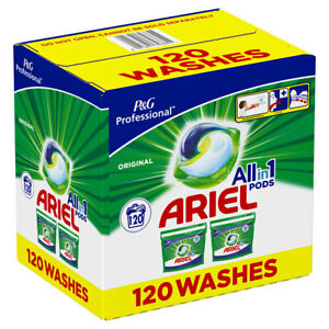 Ariel All in One Pods, 120 Washes Easy to Use Clean Lift Stains Fresh Laundry