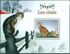 2018 souvenir sheet Cats Animals domestic sokoke