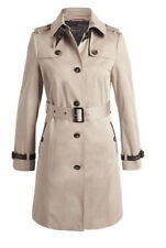 ESPRIT Collection Trench Coat Jacke Mantel Trenchcoat Beige mit Leder 34 XS S 36