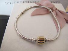 Pandora  Silver 14ct gold clasp Bracelet genuine 790702hg pandora box 20 cms