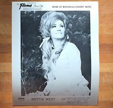 authentic Dottie West press photo from Mpls Flame Cafe