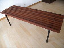 60er / 70er Design Teakholz Blumen Bank Beistelltisch Table Mid century Vintage