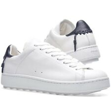 Coach C101 White/Midnight Navy Leather Sneakers Womens Size 9.5