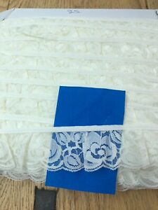 2 inch Cream Frilled Lace Trim. Beautiful qaulity and design free pp