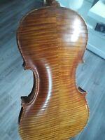 Nr. 592 alte Geige  mit Zettel Vuillaume a Paris
