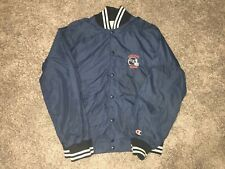 Vintage 1980's Champion Chicago Bears Snap Button Satin Jacket Size Adult Large