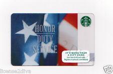 STARBUCKS GIFT CARD! HONOR DUTY SERVICE AMERICAN FLAG EARN DRINKS! FREE SHIP!