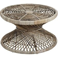 THE BALI COLLECTION FULL RATTAN TWISTED COFFEE TABLE -  PUT DRINKS ON THE TOP.