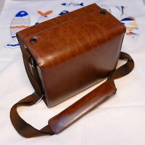 Mirrorless DSLR Advanced Camera Leather camera shoulder Bag
