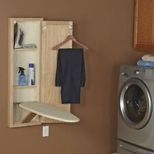 Hideaway Ironing Board Iron Wall Mount Pad Cover Foldable Pull Out Folding Home