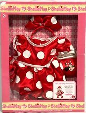 """Disney Parks SHELLIE MAY Disney Bear 17"""" MINNIE Mouse COSTUME Outfit Box Set OOP"""