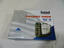 New Bushnell Tour V4 + Jolt Technology Laser Golf Rangefinder V 4 Patriot