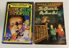 Lot of 2 BRUCE COVILLE Children Chapter Books Aliens ate My Homework, Ghost Bed