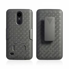 LG Aristo 3 Holster Belt Clip Combo Phone Case With Kick Stand Cell Cover Metro