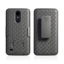 LG Aristo 2 Holster Belt Clip Combo Phone Case With Kick Stand Cell Cover Metro