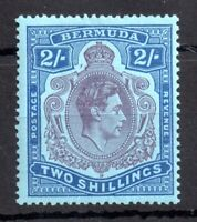 Bermuda 1938-53 2s SG116 purple Dot left of Crown mint LHM P14 WS13370