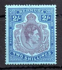 More details for bermuda 1938-53 2s sg116 purple dot left of crown mint lhm p14 ws13370