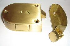 Vintage NOS Brass Safe Hardware Co. Bank Gate Latch & Striker Cabinet Hardware