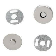 10 Sets Fermoirs Magnétique Hématite Rond Pour Sac moins Brillant 14mm Dia.
