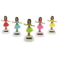 Solar Powered Dancing Hawaii Hula Girl Swinging Bobble Dancer Toy Car Decoration
