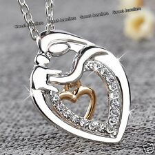 BLACK FRIDAY DEALS Rose Gold Heart Necklaces Xmas Gifts For Her Mother Daughter
