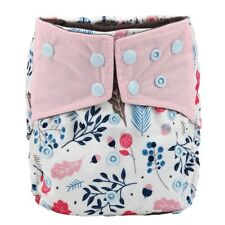 Baby Cloth Diaper Nappy Cover Bamboo Charcoal Reusable Gussets Foliage Girls