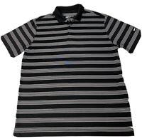 Nike Golf Dri Fit Mens XL Black Striped Short Sleeve Polo Shirt