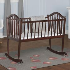 Baby Rocking Cradle Newborn Rocker Crib Bassinet Nursery Furniture Infant Wood