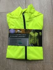 Ladies Ultra Light Fluorescent Yellow Cycling Jacket, Size Small (8-10), BNWT