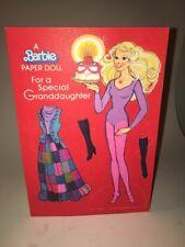 Vintage Birthday Card Paper Doll BARBIE 1979 Ambassador Cards Mattel